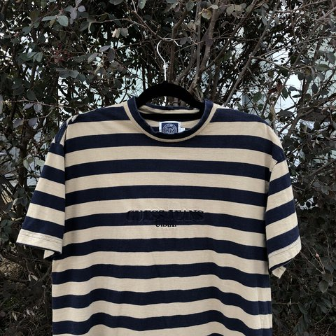 c2651871f9bb @rerackvtg. last year. Mobile, United States. Vintage 90s Guess Jeans  Striped Tee