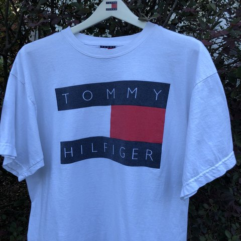 4166d8d4 @rerackvtg. in 12 hours. Mobile, United States. Vintage 90s Tommy Hilfiger  Flag Logo Tee mens large, great condition no ...