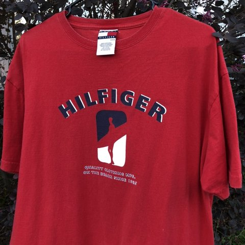 4d82c8ad @rerackvtg. in 4 hours. Mobile, United States. Vintage Tommy Hilfiger Beach  Tee mens medium, great condition no flaws, red navy blue and white ...
