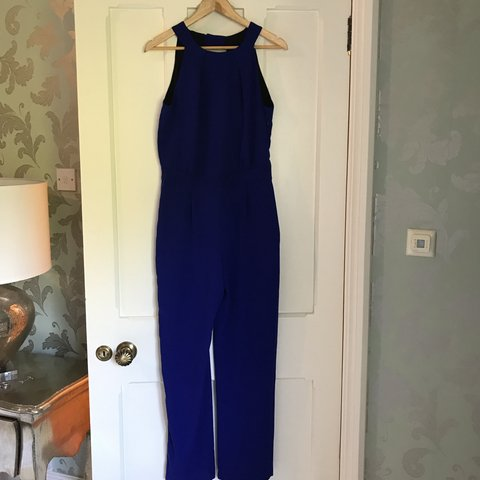 80148e8efba3 Blue Open back jumpsuit Great condition Fits 10-12 Free plt - Depop