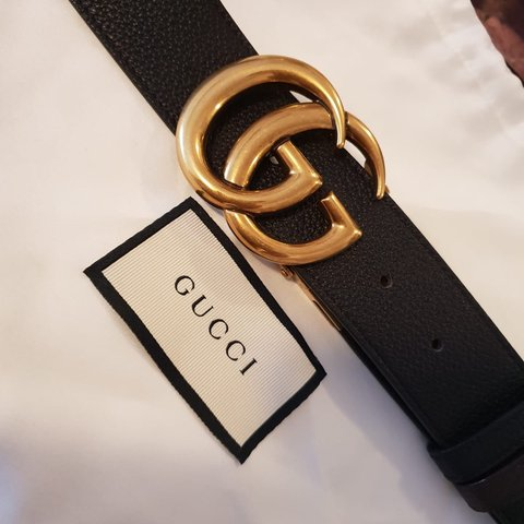 9795364df50 Mens AUTHENTIC reversible black and brown Gucci belt