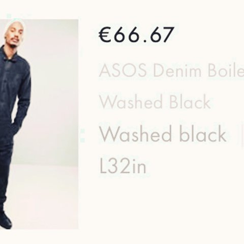 2f31899cc44e9 Asos denim boiler suit in washed black. Worn once and in See - Depop