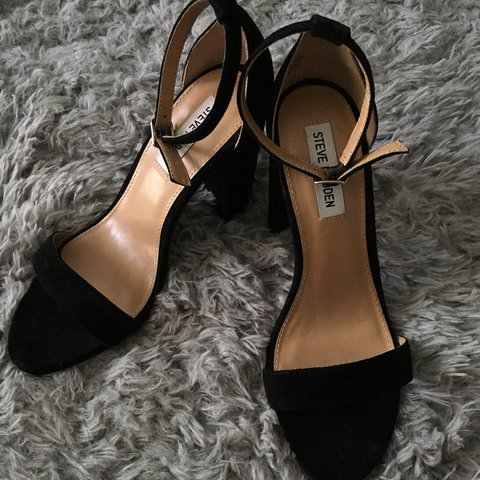 ff319120d @airic_ball. 2 years ago. Tallahassee, United States. Black suede Steve  Madden heels.