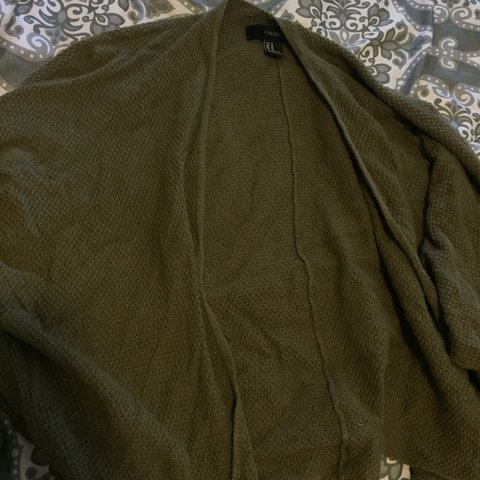 Olive Green Cardigan Not My Color I Dont Even Know Why I Depop