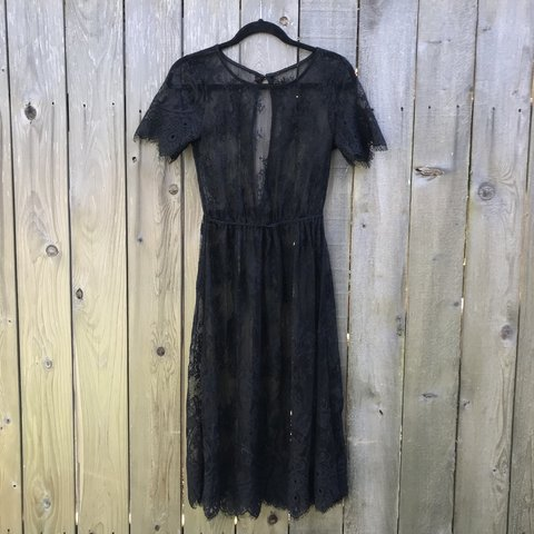 34dc9f31128e Wear this gorgeous black lace midi dress to my funeral 🔪🖤 - Depop
