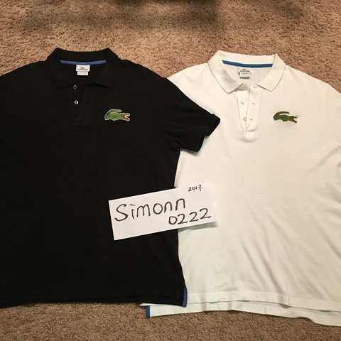 c944cd23 @realsimonn0222. 2 years ago. Manchester, United States. Selling Lacoste  big croc polo shirt.