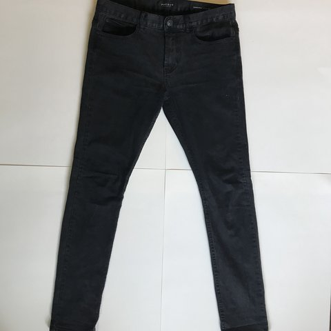 6d016f37 BLACK PACSUN STACKED SKINNY JEANS SIZE 31 x 32. - fits sale - Depop