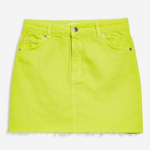 776e7d419e @caileighlou. 4 months ago. Londonderry, United Kingdom. Topshop neon  yellow denim mini skirt. Size 6. Worn once ...