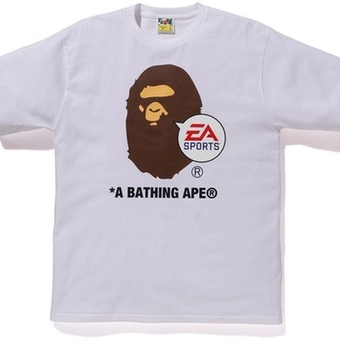 d6013810 DEADSTOCK Bape x EA Games white shirt sleeve T Comes with - Depop