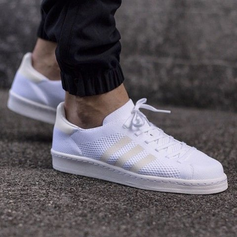 free shipping b4d93 2cdde  dancingflowers. 5 months ago. California, USA. Adidas White Campus 80s  primeknit shoes