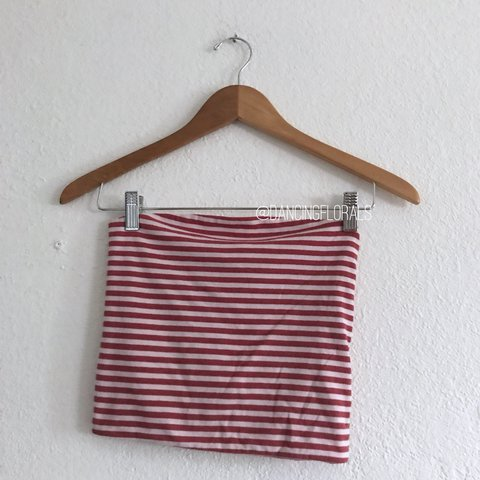 1e07f0ad84  dancingflowers. last year. United States. Brandy Melville Jenny red white  stripe tube top