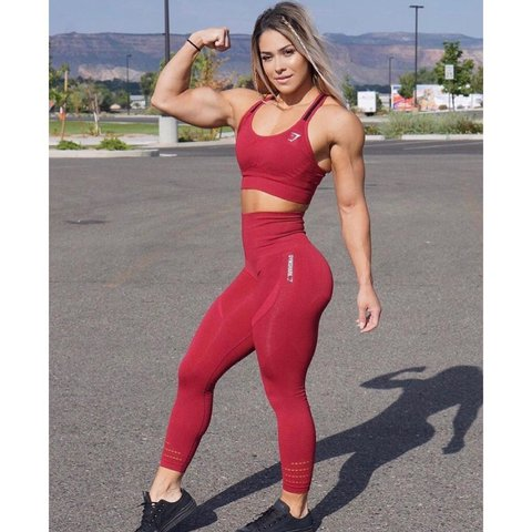 f9f4d85b2979f @belladring. last year. Gloucester, United Kingdom. Gymshark beet red  seamless high waisted leggings