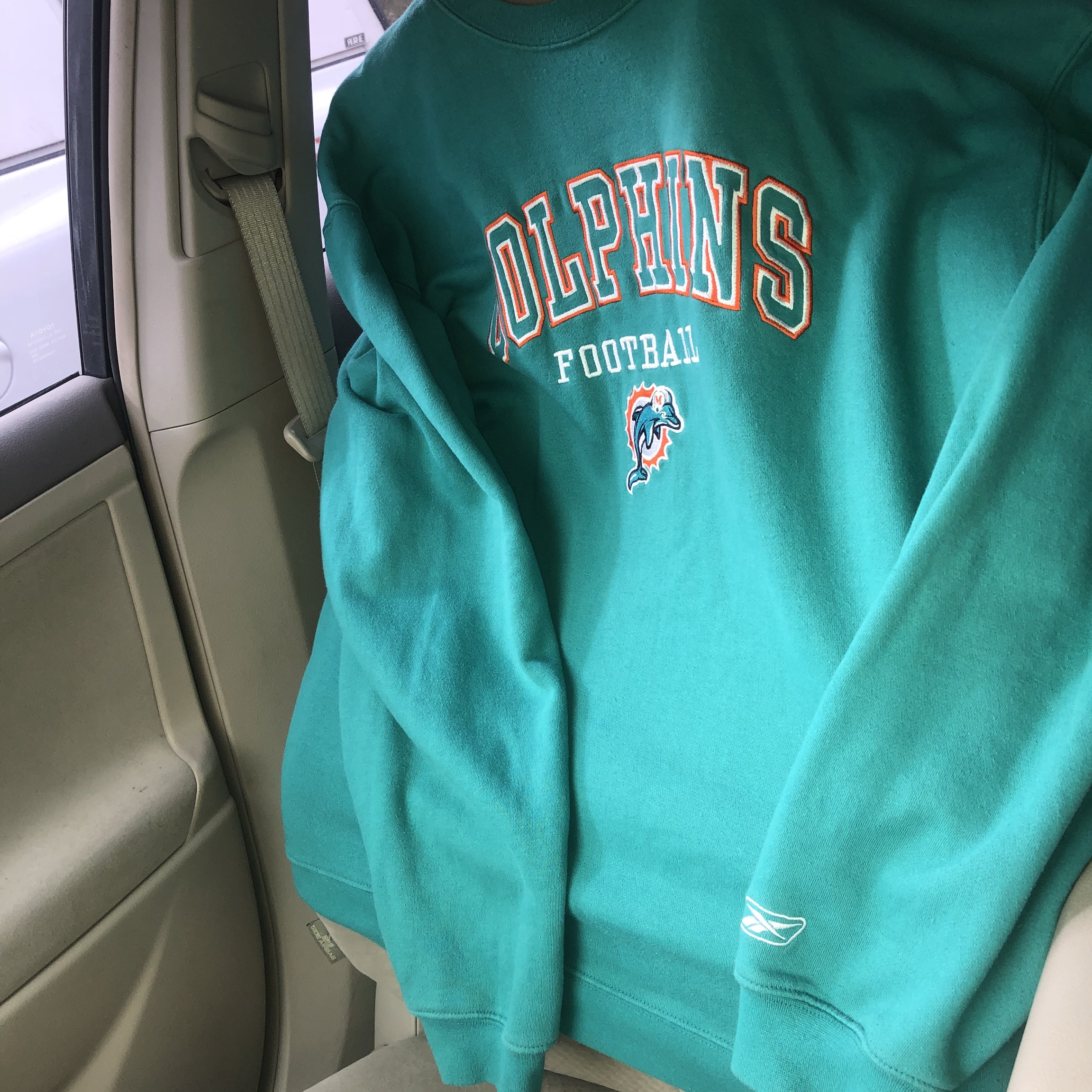 Peachy Miami Dolphins Pullover Bright Color With Dolphins Depop Pabps2019 Chair Design Images Pabps2019Com