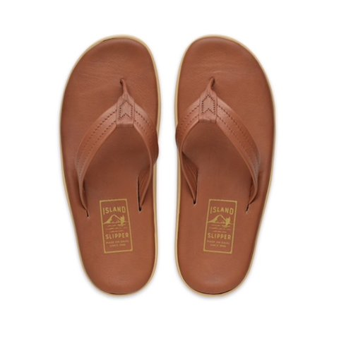 a9453c167 Pre•loved Island Slipper Men s Leather Flip Flops Size The - Depop