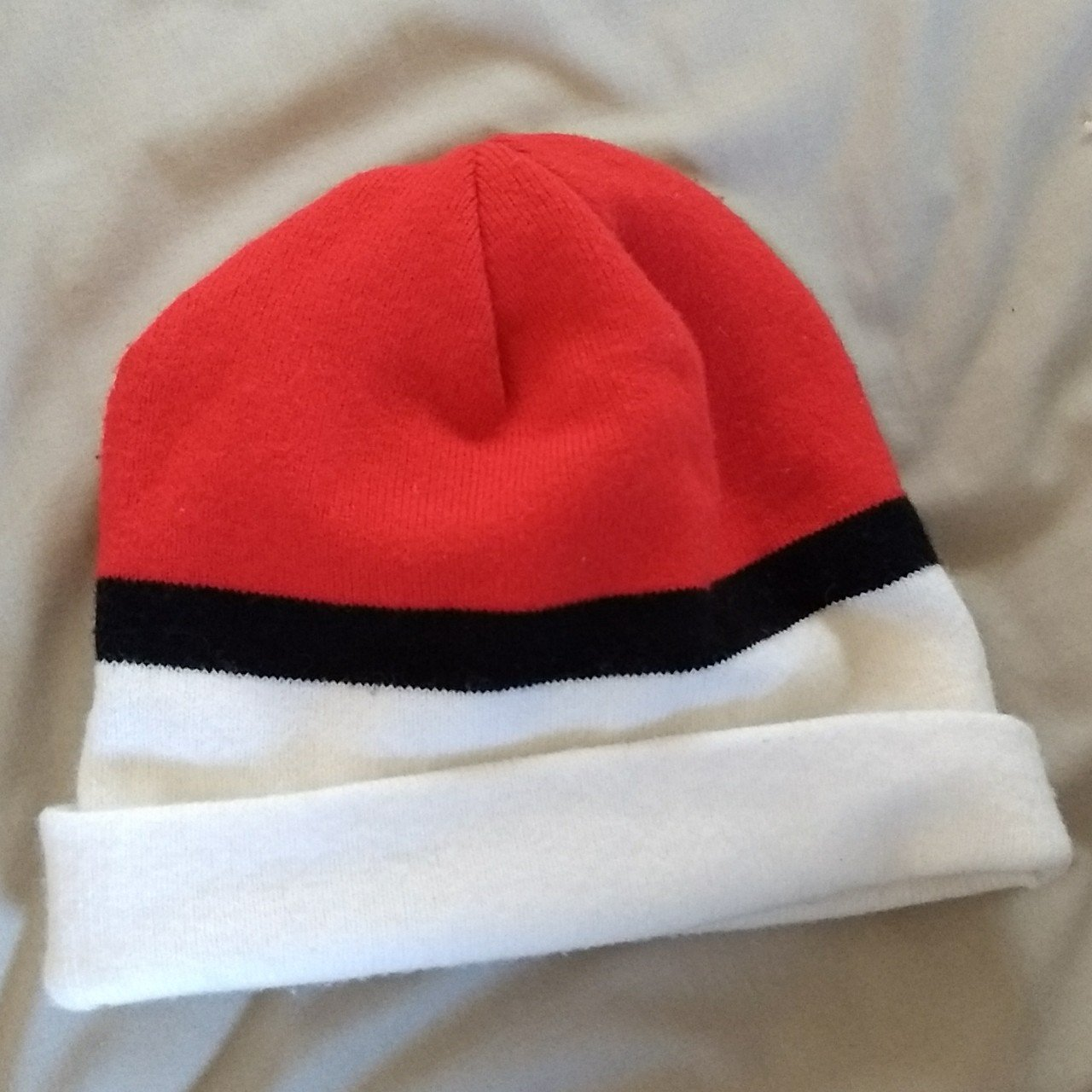 Pokeball Pokemon Beanie Hat 100% Authentic. 10 10 is  4 Pm - Depop 33fa664586a7