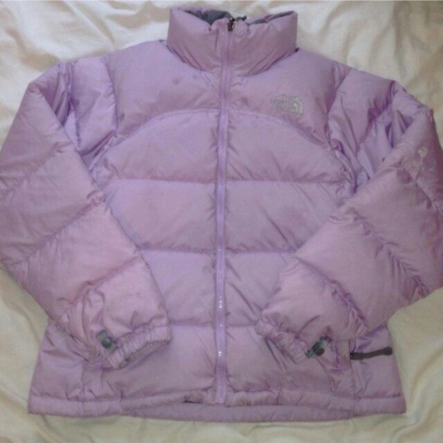 cb00283e5 LILAC NORTH FACE PUFFER JACKET great condition,... - Depop
