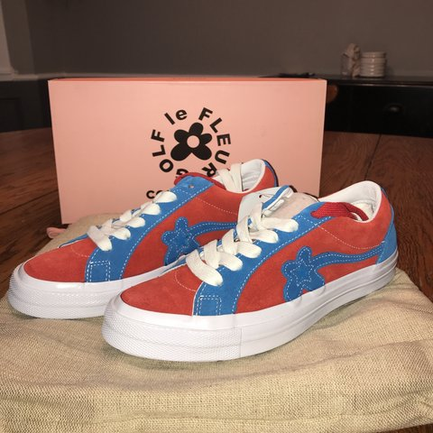 7175ac12538e Golf Le fleur converse one star collab in the red and blue - Depop
