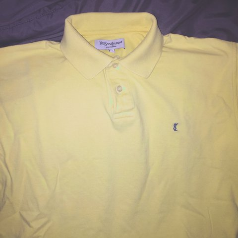 f05a69e7 @walker504. last month. Lafayette, United States. 🤢FREE SHIPPING🤢 PRICE  DROP Yves Saint Laurent Yellow polo shirt Size Medium in ...