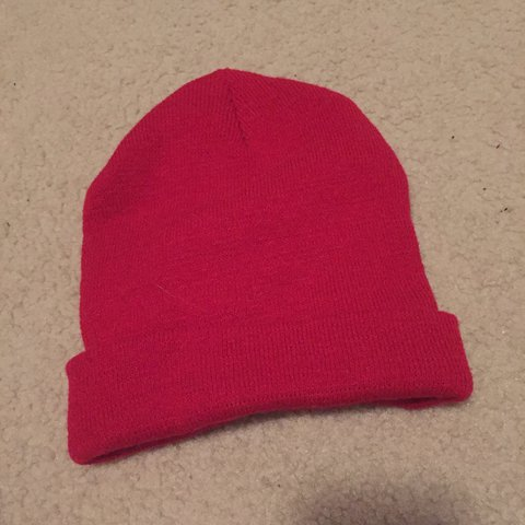 Red beanie from Target. Super warm and cozy and perfect for - Depop 91cb4108c51