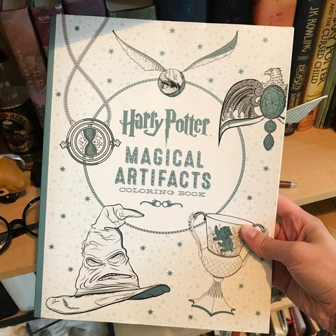 Harry Potter Magical Artifacts Coloring Book I Love This I Depop