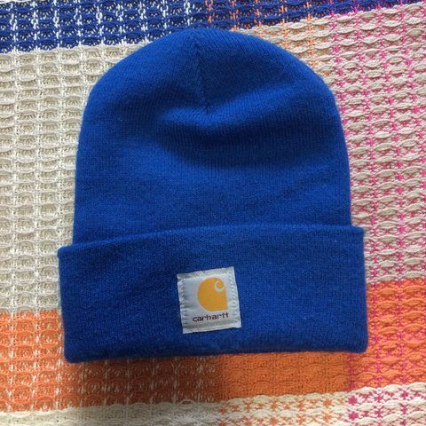 55ff31ccd671d Bright blue Carhartt hat! Excellent condition - worn once. - Depop