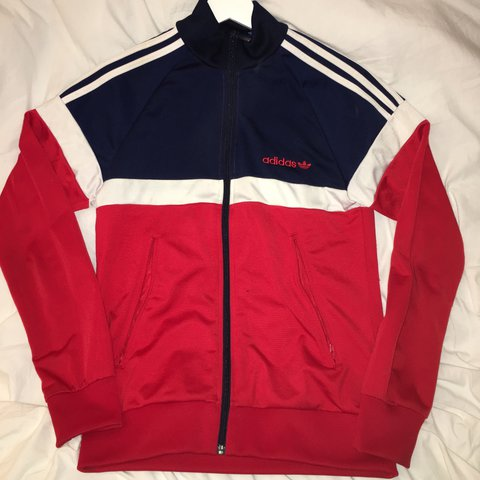 Adidas Original Itasca Track Jacket Red White Navy Bought Depop