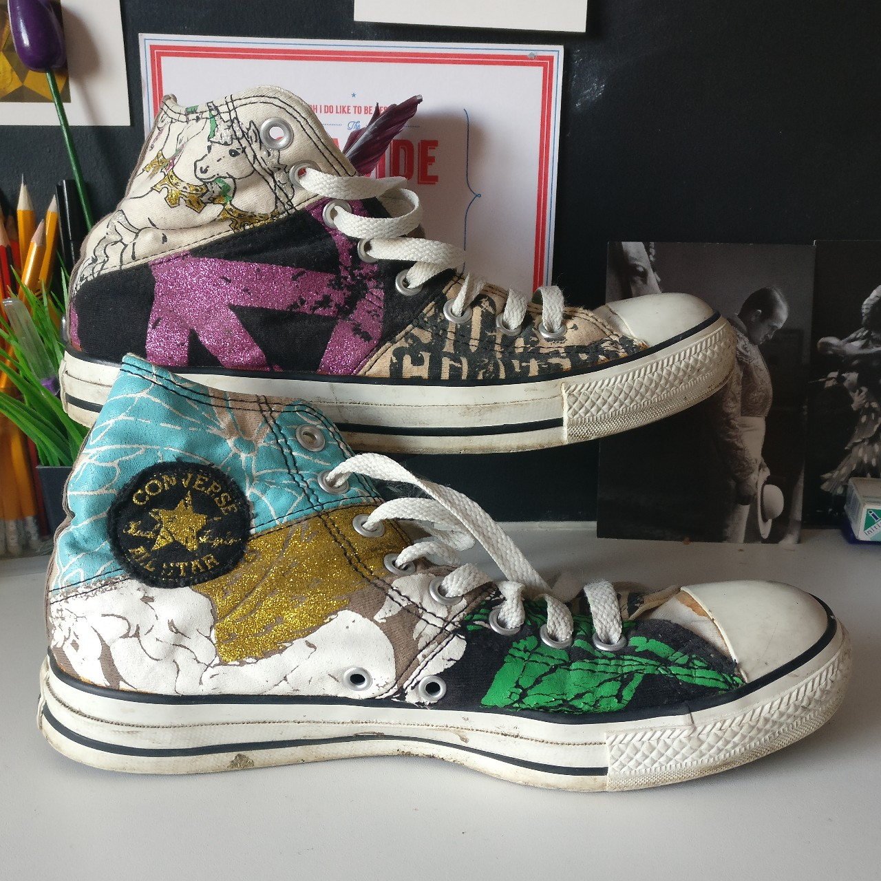 Special edition converse Were exclusive to a store Depop