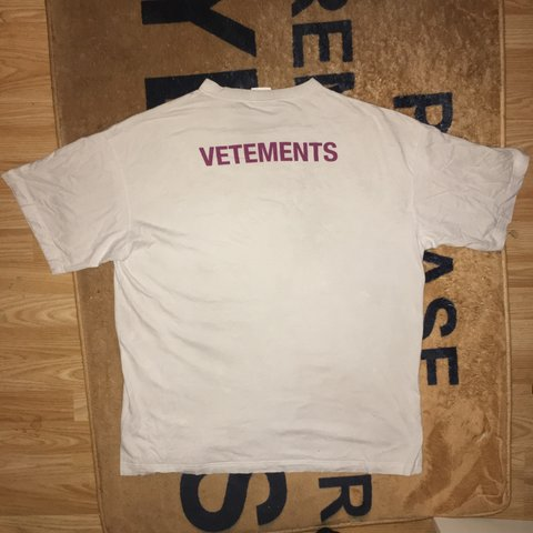 cf7cbf7e @devante_castillo. 4 months ago. London, United Kingdom. Vetements 2018 Staff  Tee VERY WORN