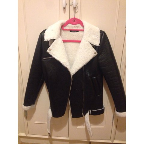 6bcccbdf34c5 Missguided black faux leather jacket with ridiculously soft - Depop