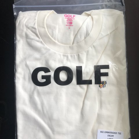 106ed3fe4928 Golf Wang embroidered bee tee large Deadstock! Price the - Depop