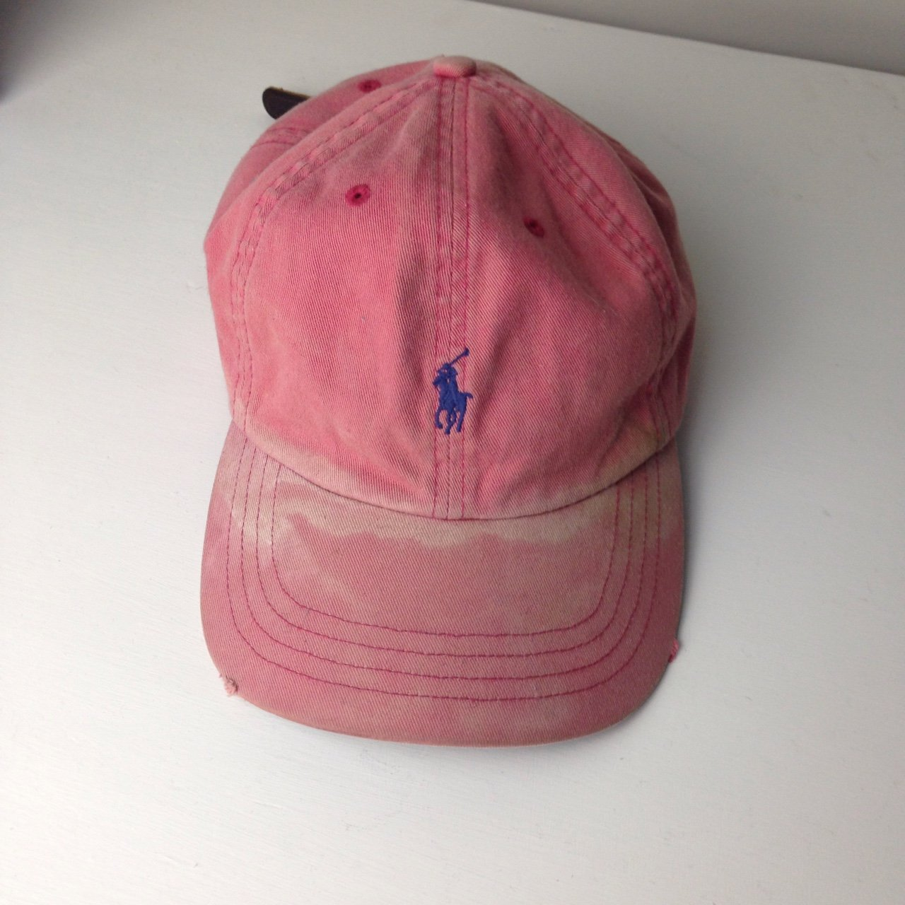 a6fe39db747 Polo Ralph Lauren authentic vintage cap. Washed out red with - Depop