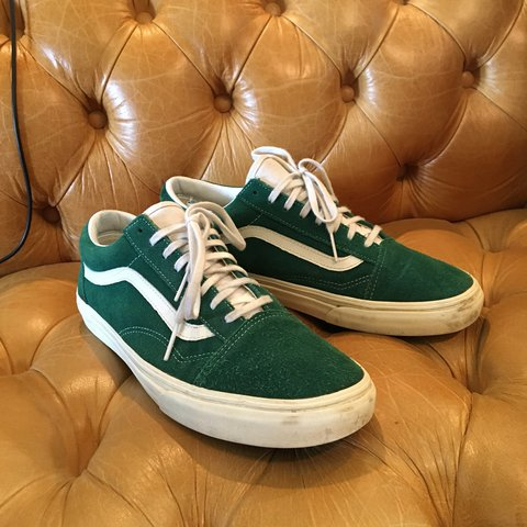 cdfccce508a Suede forest green old skool vans I have never seen another - Depop