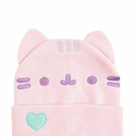 ea1489d40b1c7 BLACK FRIDAY SALE   Pink pusheen hot topic beanie with 2 3 - Depop