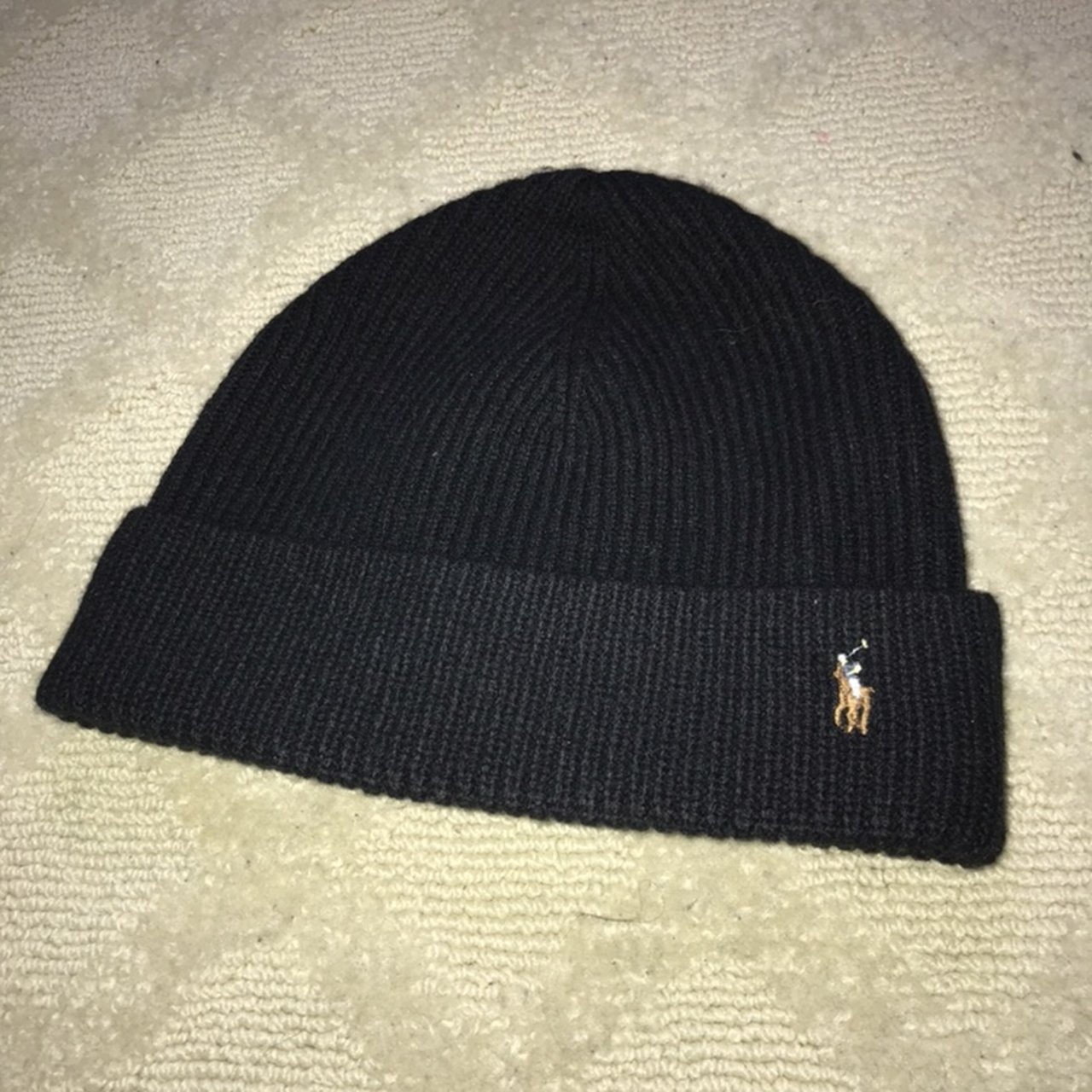Authentic Polo RL beanie 10 10 condition - Depop 17be3188dd8