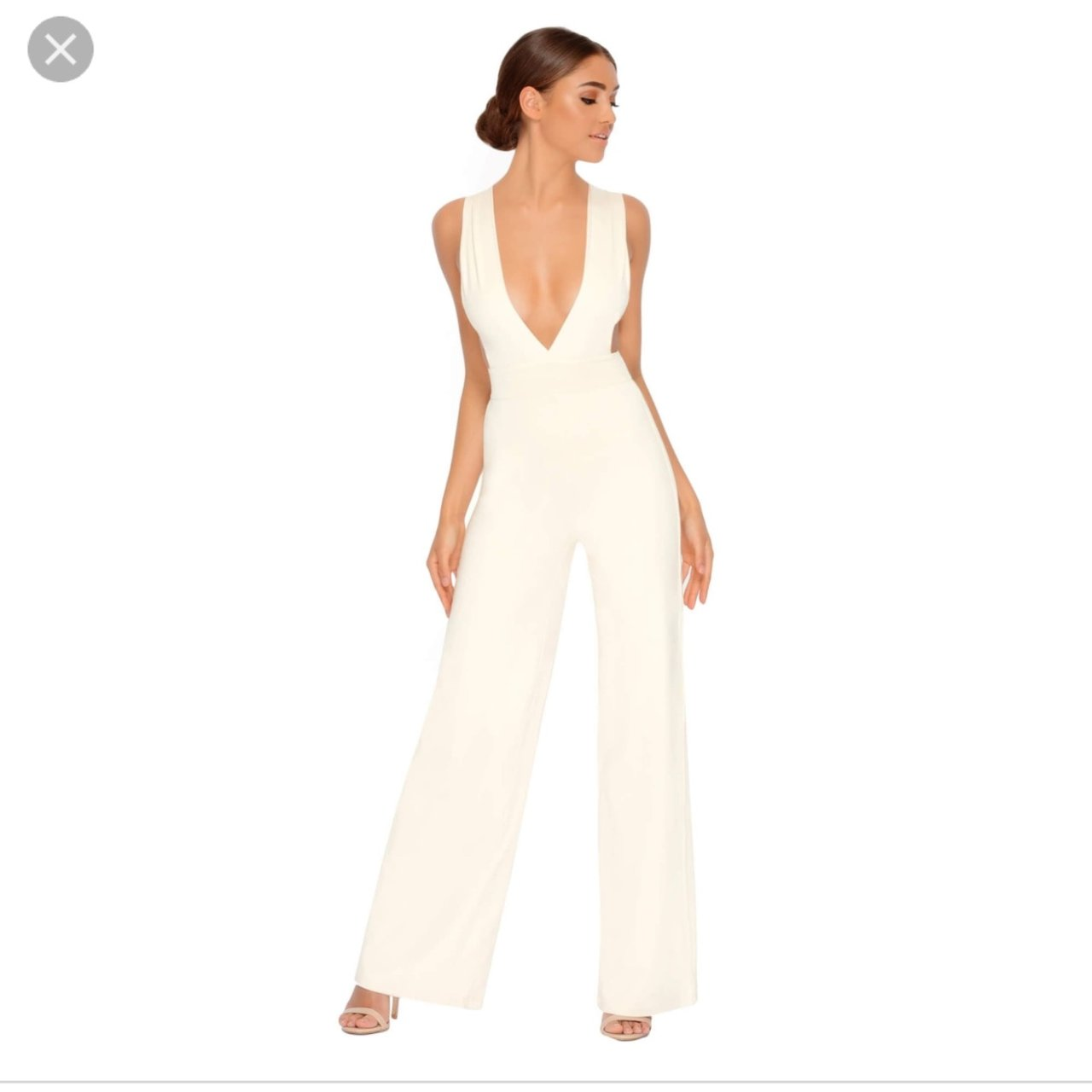 "ad9ad5b6078e Cream ""oh polly"" jumpsuit Worn"
