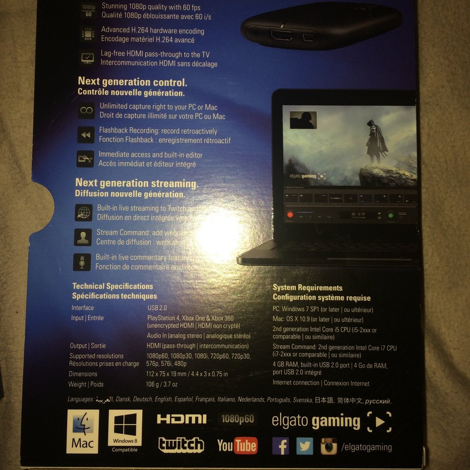 Elgato HD 60 Game Capture device  Comes with    - Depop