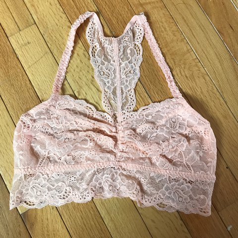 3c1c00493d5 Pale coral lace bralette made by Victoria s Secret PINK. and - Depop