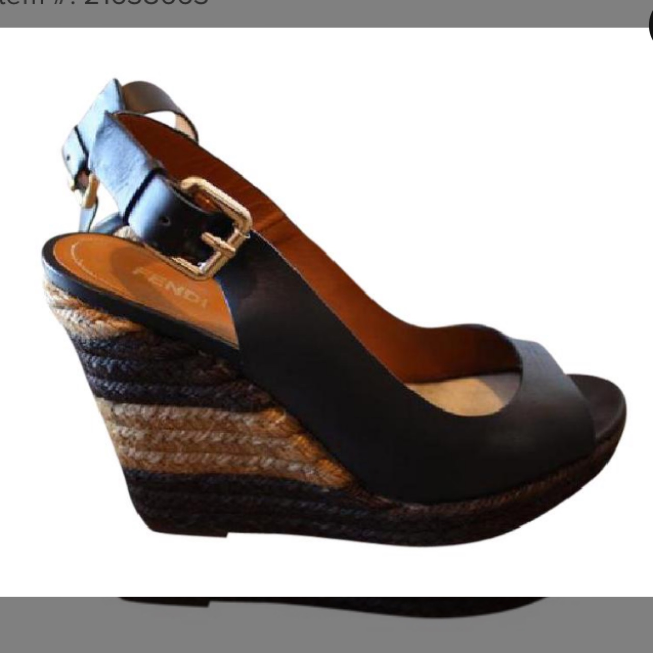 on feet shots of lowest price outlet online AUTHENTIC FENDI Shoes Wedges Black/Brown Espadrille... - Depop