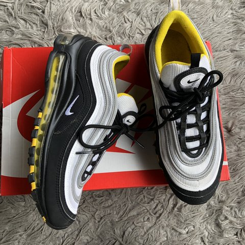 low priced 6bd70 32728  marecheau. 4 months ago. Los Angeles, United States. Nike Air Max 97 GS Silver  Yellow ...