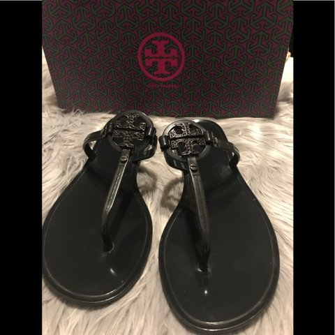 02eed5d93 Used Tory Burch Mini Miller Jelly Thong with crystals sandal - Depop