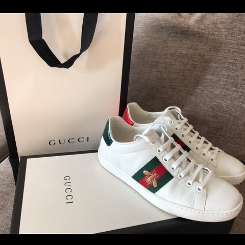 e7fc0af97317 GUCCI trainers bought in Selfridges with bee embroidery! a 2 - Depop