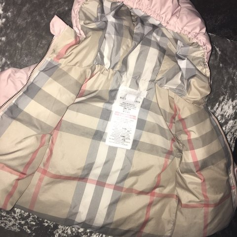608f1707c1dcb @jenzo89. 2 months ago. London, United Kingdom. Pale Pink Authentic Baby  Girl Burberry Jacket Aged 6 Months.