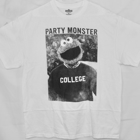 d01485426 Cookie Monster Party Monster T-Shirt, color white, size tee, - Depop