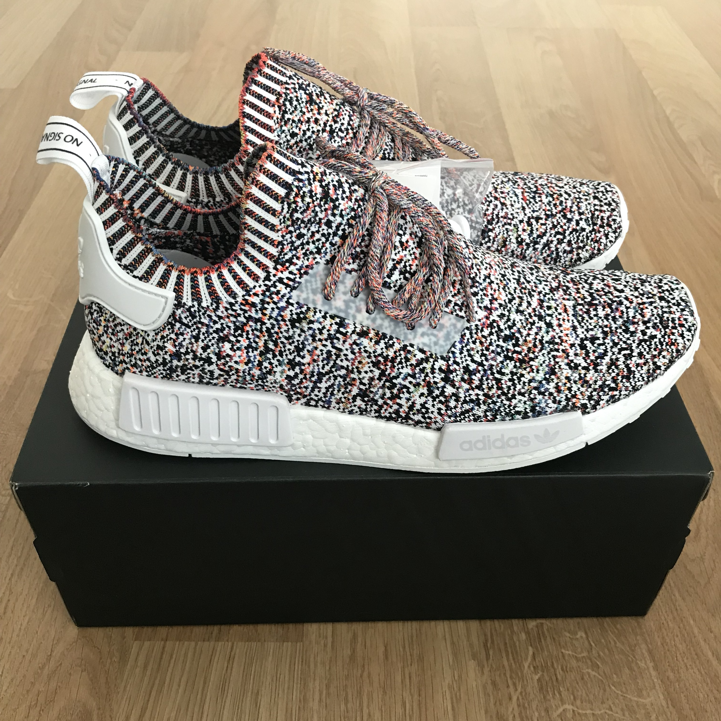 new arrival 433bd b4d9b Adidas NMD R1 static / No signal Uk 10.5 DS/New in... - Depop
