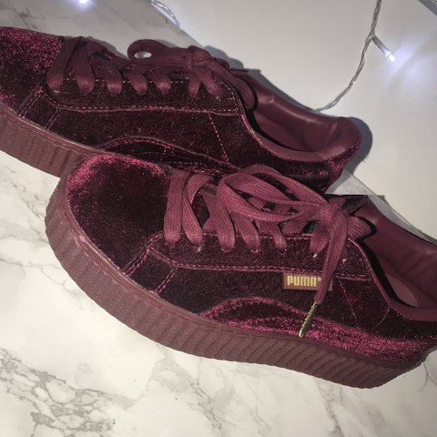 e4e670908d2549 Puma Fenty creepers in red Excellent condition no faults 5 - Depop