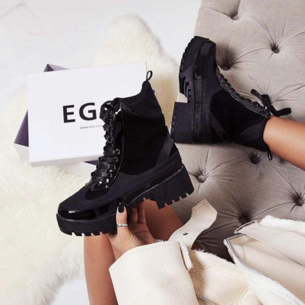 EGO commander chunky sole lace up ankle