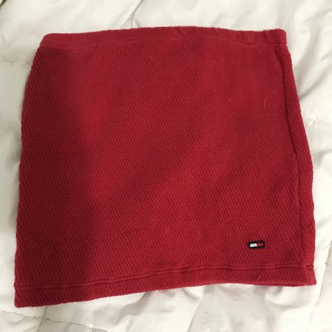 cdd549c762f BEST TOMMY FIND EVER ! TOMMY HILFIGER RED TUBE TOP 💿 this a - Depop