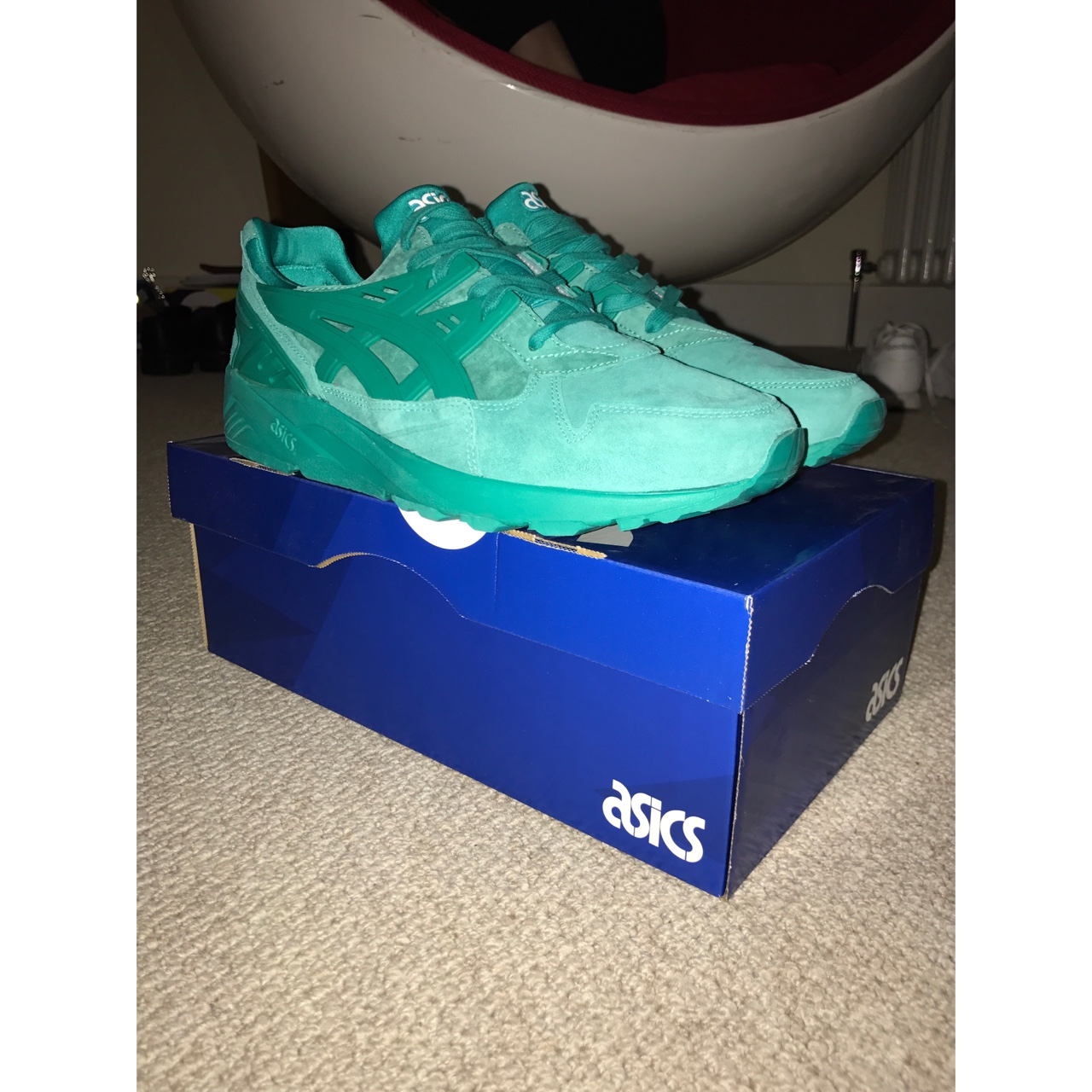 official photos a9407 e8937 ASICS GEL KAYANO SPECTRA GREEN. UK 9. 10/10... - Depop