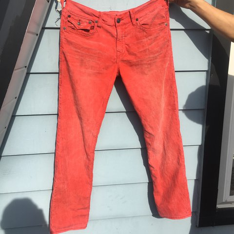 7690ce49e Red Ricky True Religion pants Size 34 Very clean condition - Depop