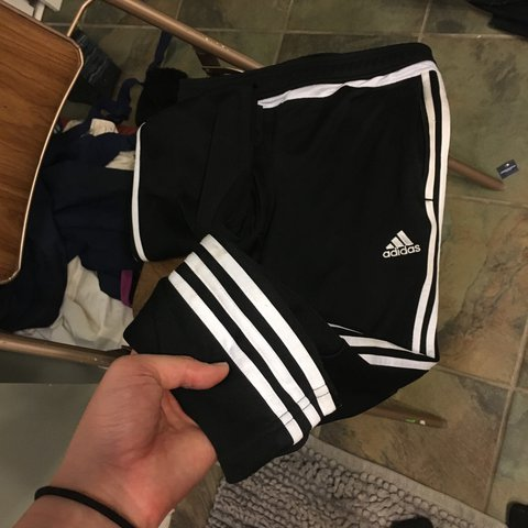d3ce4132682 Real Adidas Tiro 15 joggers, they're a size Medium and fit a - Depop